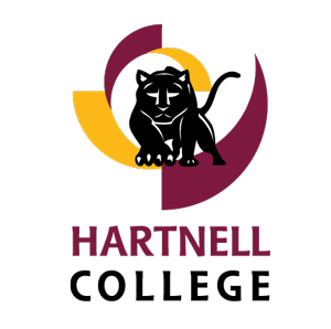 Maroon and gold logo for Hartnell College.