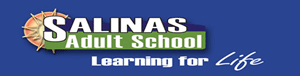 Blue logo for Salinas Adult School.