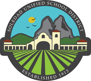 Colorful logo for Soledad Unified School District.